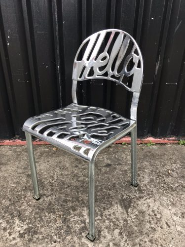'Hello There' Chair in Aluminium, Jeremy Harvey for Artifort, Netherlands, 1970s