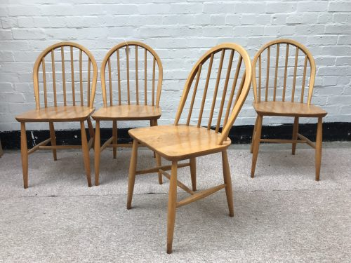 4 x Vintage 1960s ERCOL Windsor Kitchen Chairs