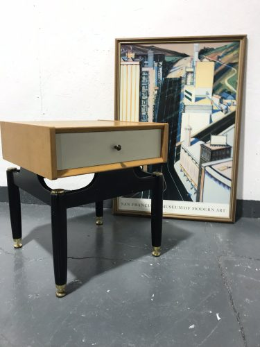 Single Vintage Mid Century G PLAN CHINESEWHITE Bedside Cabinet / Drawers / Table