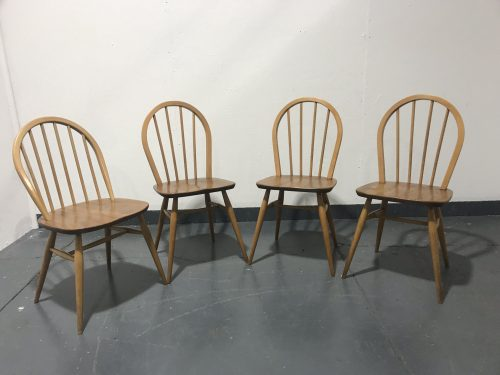 4 x Mixed Vintage Mid Century 1950s / 1960s ERCOL Windsor Kitchen Chairs
