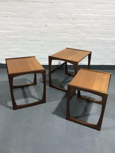 1970's Retro Classic G Plan Quadrille Teak Nest Of Tables