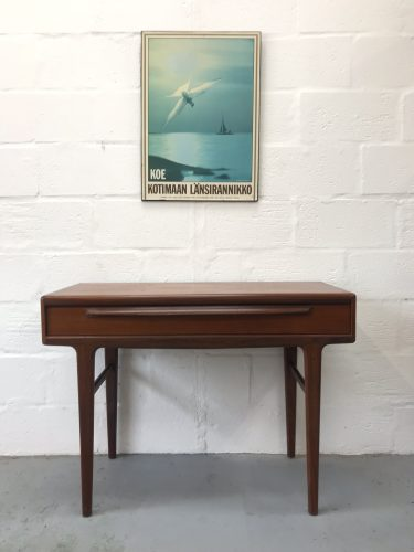Vintage Retro 'Fonseca' Teak Mid Century Desk / Console John Herbert for Younger