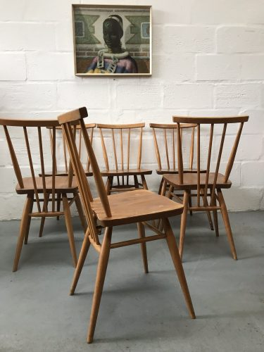 6 x Vintage Retro Ercol All Purpose Chairs 391