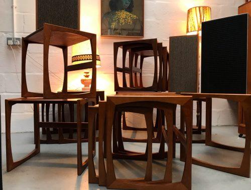 Retro Classic G Plan Quadrille Teak Nest Of Tables 1970s