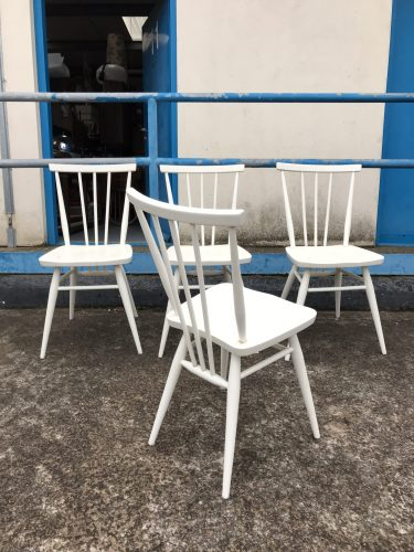4 x Vintage White Ercol All Purpose Chairs