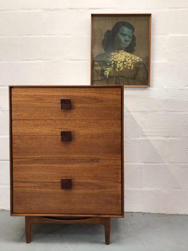 Vintage G Plan IB Kofod Larsen Danish Tallboy / Chest of Drawers