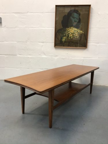 Richard Hornby Two-Tier Coffee Table Mid Century Vintage