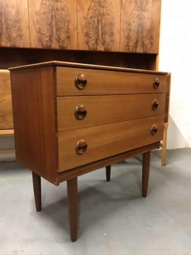 Small Retro SCHREIBER Chest of 3 Drawers Vintage