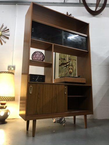 Retro SCHREIBER Wall Unit Bookcase Room Divider Vintage