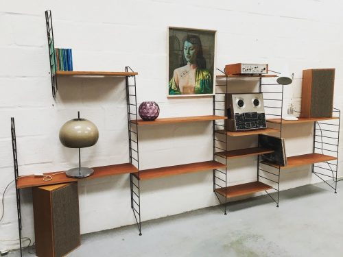 Mid Century 1960s Shelving Unit by Brianco