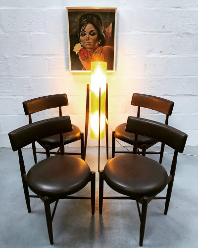 Mid Century Classic Set of 4 G PLAN Fresco Dining Chairs