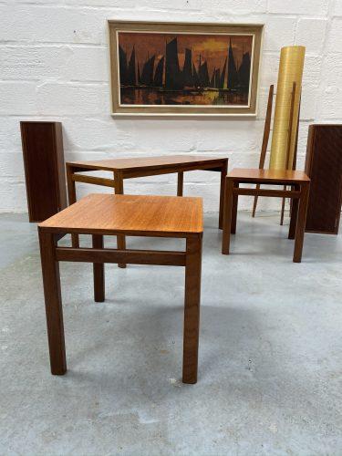Retro 1960s / 1970s Teak Nest of Tables 'Danish Style'