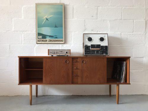 Vintage Mid Century 1960s Teak Sideboard by Avalon