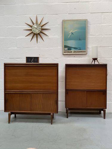 Vintage 1960s Teak Drinks Cabinet & Bureau by Robert Heritage for Beaver Tapley