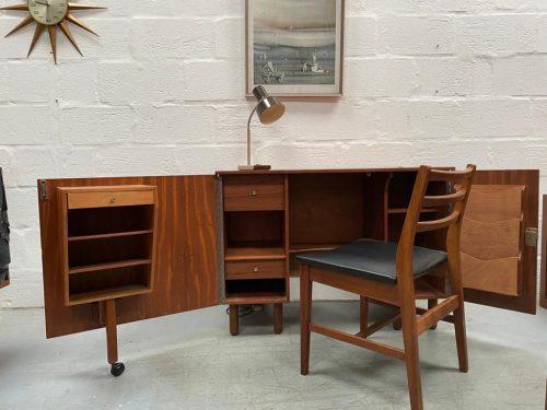 Mid Century 1960s Teak Metamorphic Desk