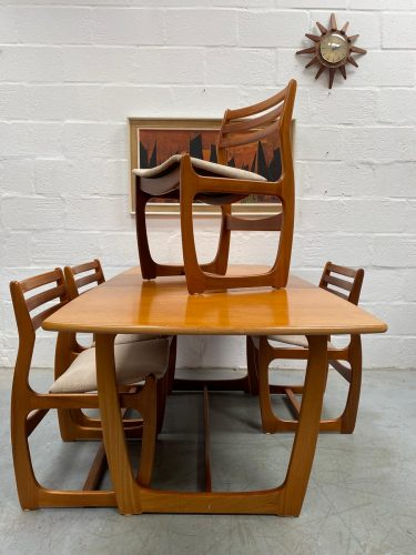 Retro Vintage PORTWOOD Dining Table & 4 Chairs