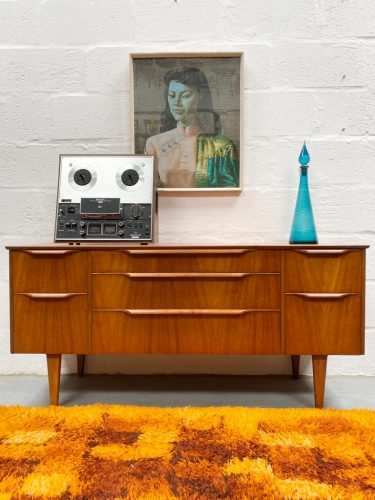 Vintage Mid Century Dressing Chest / Sideboard Danish Style
