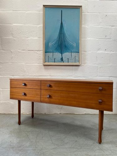 Vintage Teak Avalon Small Sideboard / Chest of Drawers / Dressing Table