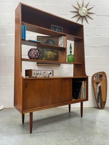 Mid Century Danish Inspired Teak Room Divider / Wall Unit Vintage