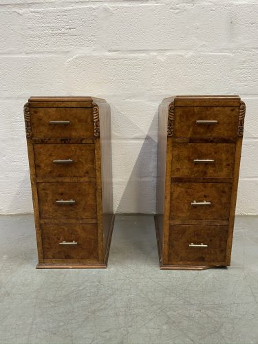 Pair of Vintage 1940s Art Deco Cabinets