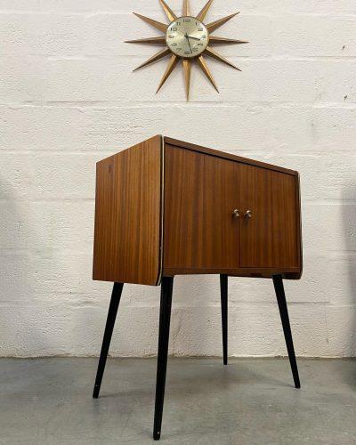 Original Vintage Record Vinyl Cabinet with Atomic Dansette Legs