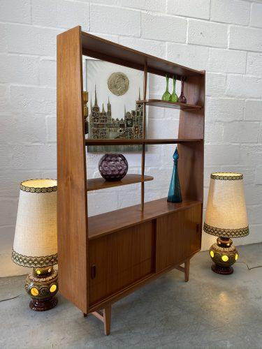 Vintage Mid Century 'Danish Style' Teak Room Divider / Display Shelf