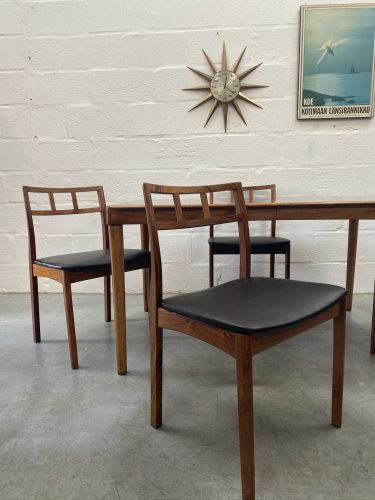 Danish Mid Century HW Klein for Bramin Dining Table & 4 Chairs