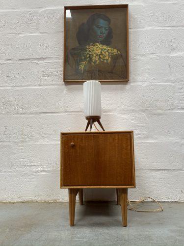 Vintage Mid Century Modern Single Bedside Cabinet / Lamp Side Table