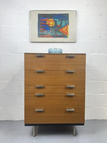 Stag 'Fineline' Range Tallboy Chest of Drawers Designed by John & Sylvia Reid, 1960's
