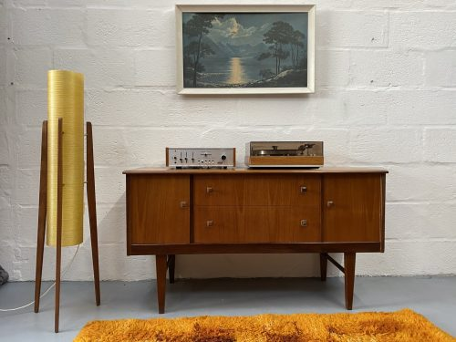 Vintage Mid Century Sideboard, Record Player / Media Stand