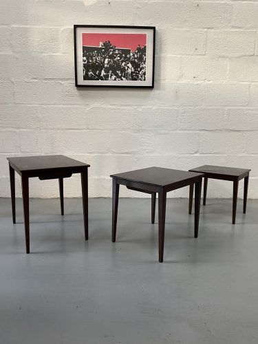 Mid Century Vintage Danish Rosewood Nesting Tables KVALITET FORM FUNKTION 1960s