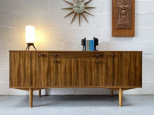 Vintage Walnut & Sycamore Sideboard by Neil Morris for Morris Furniture, Glasgow
