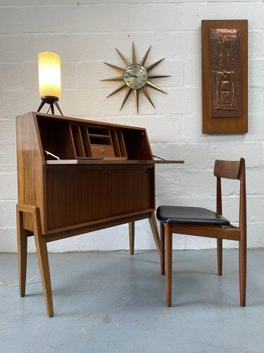 Mid Century Vintage Bureau / Writing Desk by Greaves & Thomas