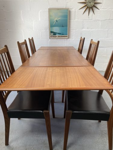 Set of Six Mid Century Danish Dining Chairs & Dining Table by Mogens Kold 1960s