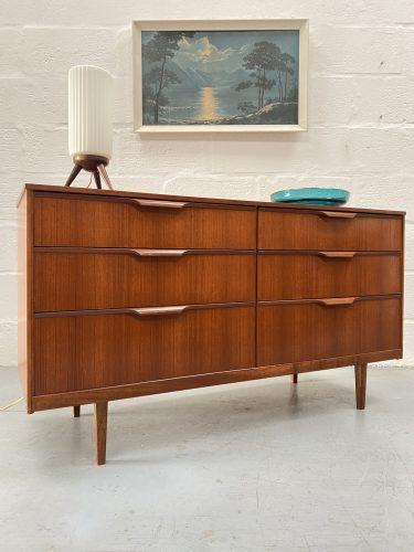 Vintage Mid Century Austinsuite Chest of Six Drawers / Sideboard