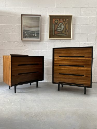 Pair of 1950s Mid Century Walnut 'C' Range Chest of Drawers for Stag