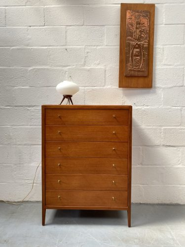 Vintage Mid Century Tallboy / Chest of Drawers by Loughborough Furniture