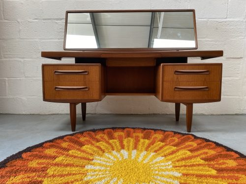 Classic Vintage G Plan 'Fresco' Floating Top Dressing Table with Mirror / Desk