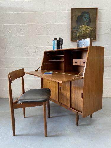 Vintage Mid Century Teak Bureau by Burolite