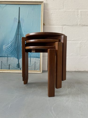 Vintage 1960s / 1970s Teak Stacking Coffee Tables 'Danish Style'