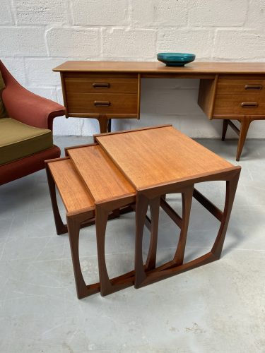 G Plan Quadrille Teak Nest Of Tables 1970s