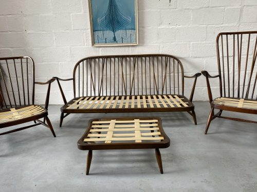 Ercol Windsor 3 Seater Sofa, 2 Armchairs & Footstool (Frames ONLY)