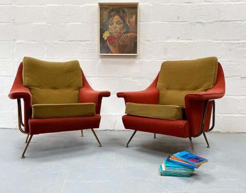 Rare Vintage G Plan Sofa and Matching Armchairs