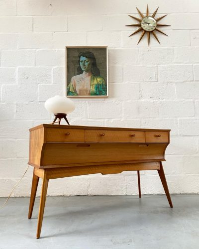 Vintage 1950s Mid Century Alfred Cox Dressing Table / Desk