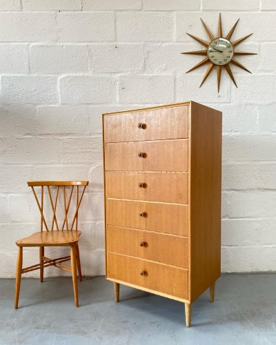Mid Century 1960s Meredew Tallboy / Chest of Drawers