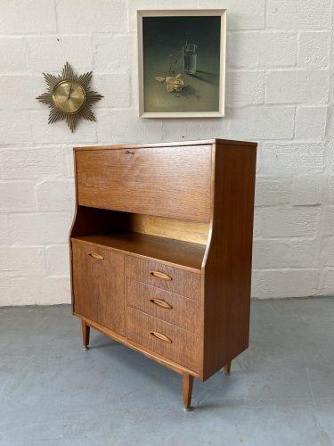 Vintage Mid Century Teak Bureau by Jentique