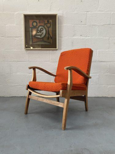 Vintage 1960s Cintique Lounge Chair