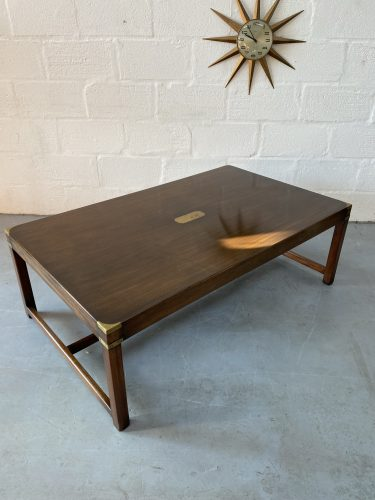 Vintage Campaign Style Large Coffee Table