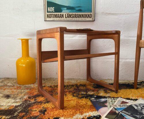 Vintage 1960s BR Gelsted Møbler Magazine End Table