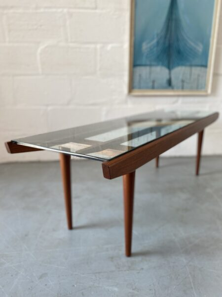 Vintage Mid Century Coffee Table by Poul Volther for Frem Rojle